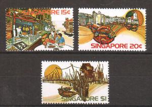 Singapore Sc 222-224 MNH. 1975 Tourism, complete set, VF