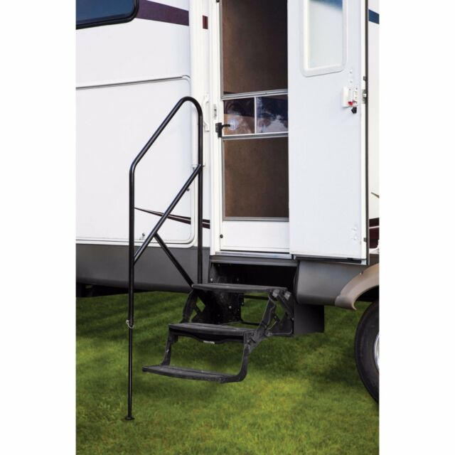 RV Step Assist Rail For Entering And Exiting For Triple And Quad Entry Steps