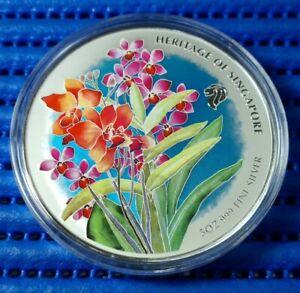 Singapore-Heritage-of-Singapore-Orchid-5-oz-999-Fine-Silver-BU-Medallion-02