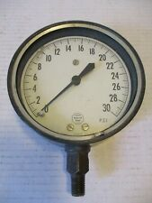 Acco Helicoid Pressure Gage 316 Steel 5 Dial 0 30 Psi Steampunk 2219 0