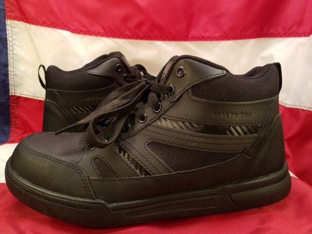 Black Composite Toe Work BOOTS Size