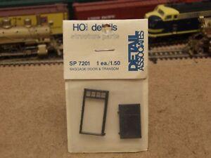 Detail Associates HO Baggage Door /& Transom SP 7201