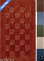 Checkerboard Rectangle Sculpted Area Kitchen/bath Throw Rug - Assorted Colors