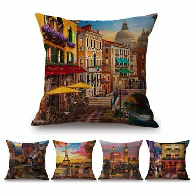 Paris Venice London Scenery Home Decor Sofa Cushion Cover France Italy Uk Europe Ebay,Home Design Checklist Template