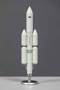 Russian Angara (FIRST) spacecraft rocket launch vehicle  scale model 1\144