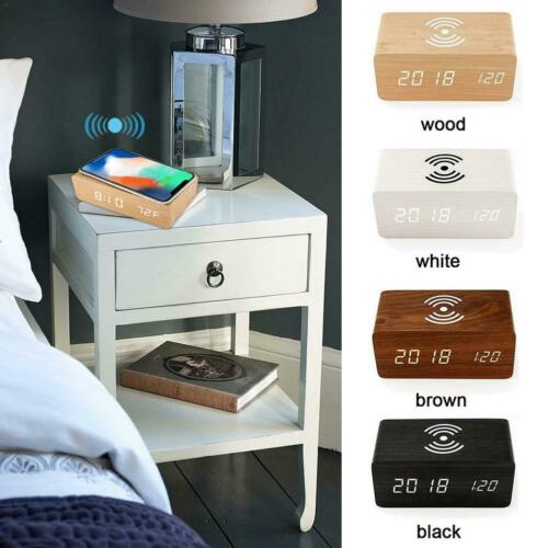 Bluetooth Radio Alarm Clock With USB Charging Wireless Mirror for Bedroom Office