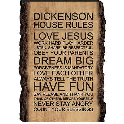 Gift for Friends Keepsake W96 House Rules Sign Family Rules Wooden Plaque
