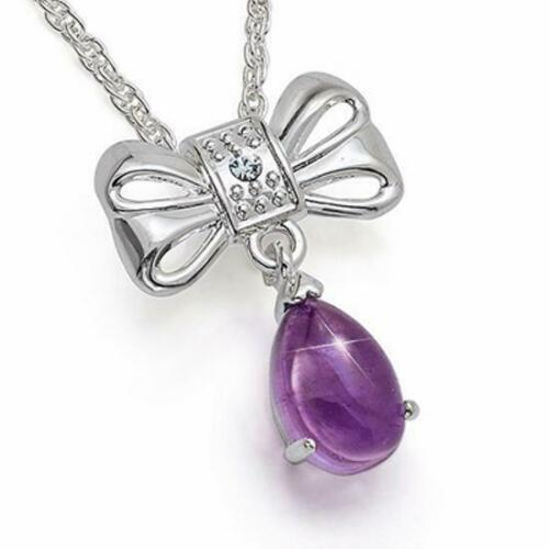Set di 5 l'Olivia Collection Da Donna Silvertone genuine amethyst 3.96ct GOCCIA pe