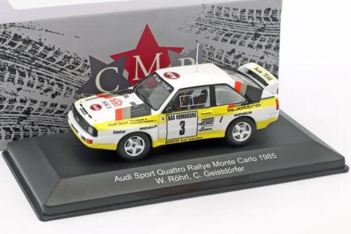 Audi Sport Quattro #3 2nd Rallye Monte Carlo 1985 Röhrl Geistdörfer 1:43 CMR