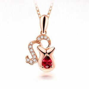 Crystal-Stainless-Pendant-Rose-Gold-Plated-Constellation-Jewelry-Necklace