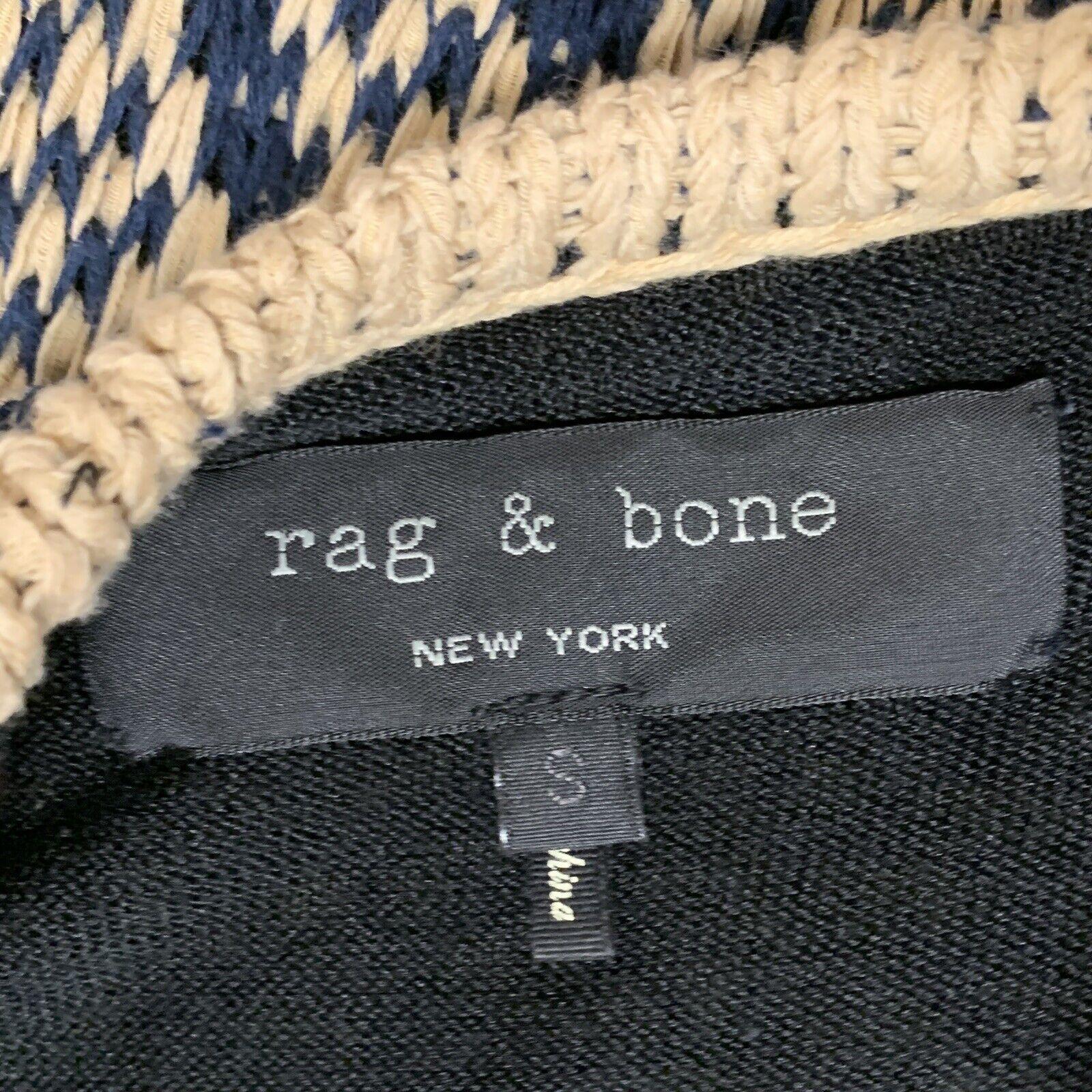 Rag Bone Knit Sleeveless Tank Dress Tan and Blue … - image 4