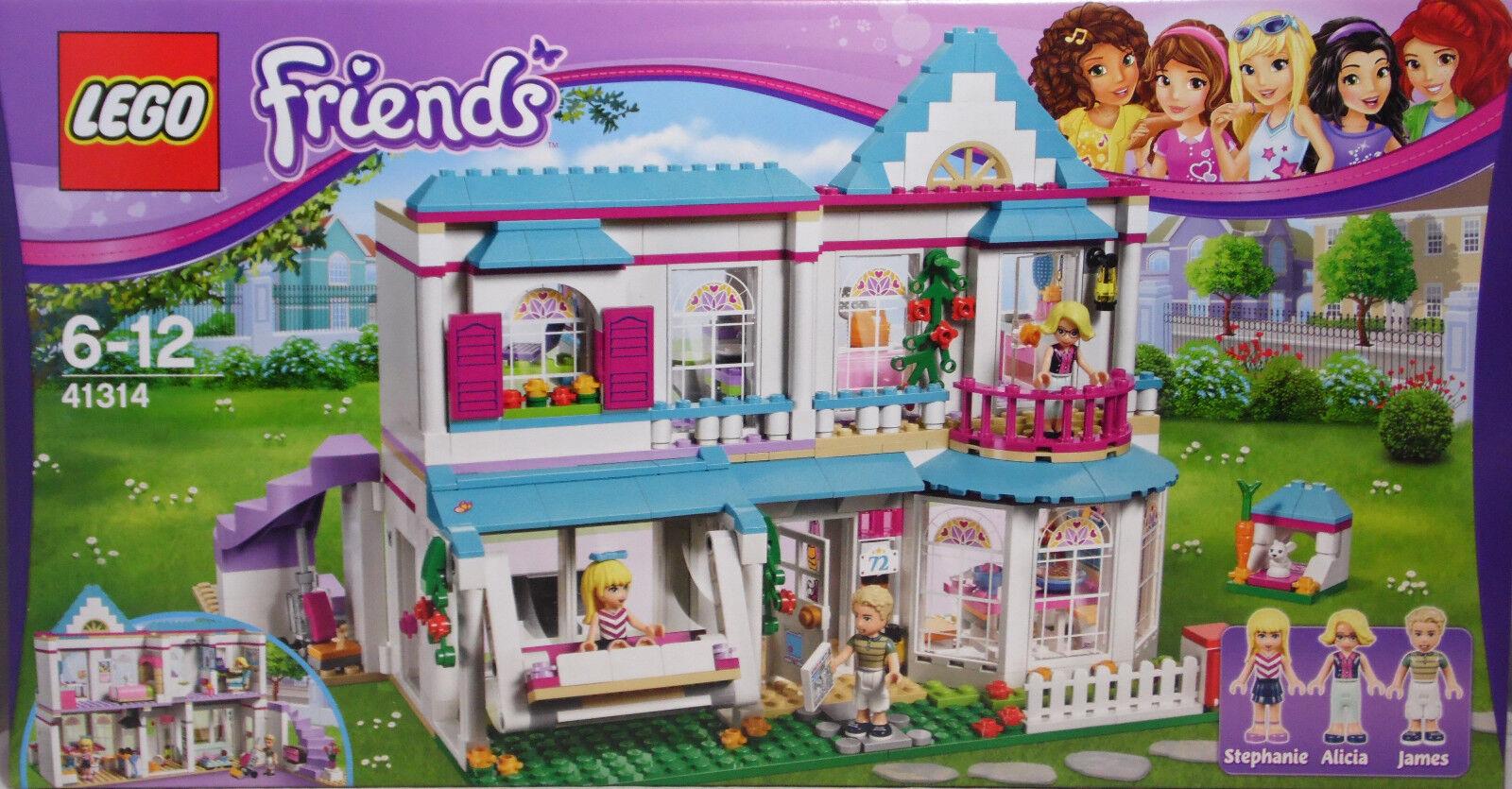 Lego 41314 Stephanie Maison Villa Alicia James Balançoire lapin Cuisine Salle de Bain NEUF