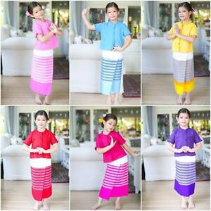 Image Is Loading THAI TRADITIONAL CUTE GIRL KID DRESS OUTFIT TOP
