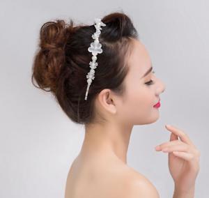 Haarreifen Perlen Blüte Blumen Haarschmuck Kopfschmuck Haarreif Braut Hochzeit