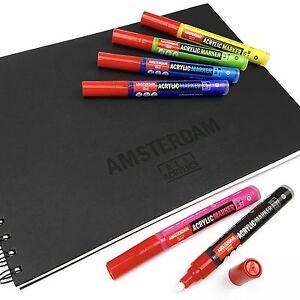 Royal Talens-Amsterdam marcador De Pintura Acrílica & A4 Cuaderno De Bocetos Set-Starter Pack
