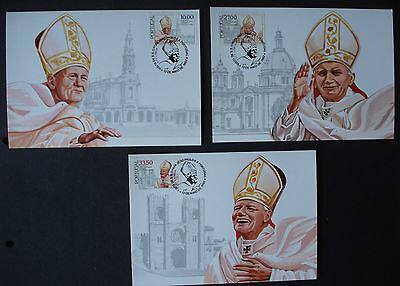 Billiger Preis Portugal 1982:cpl.set Mk Maximum Stamp Cards First Day Papst Johannes Paul Ii Briefmarken