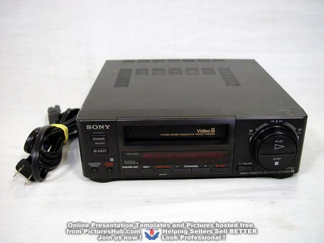 Sony Ev-a50 Video 8 VCR Recorder Editing Player 8mm Cassette Hi8