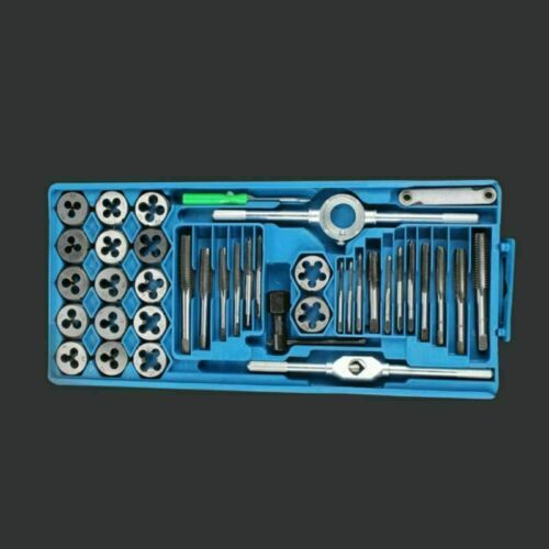 Metric Tap and Die Set 40pc Thread Repair M3 M12 Taper Thread Drill with Case
