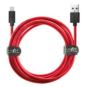 0-5m-Red-USB-Charging-Cable-Data-Sync-Lead-for-iPhone-XR-XS-X-8-7-6-5-iPad-Pro