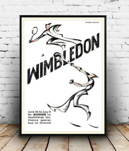 Wimbledon-Tennis-Old-Travel-advert-poster-Wall-art-poster-reproduction