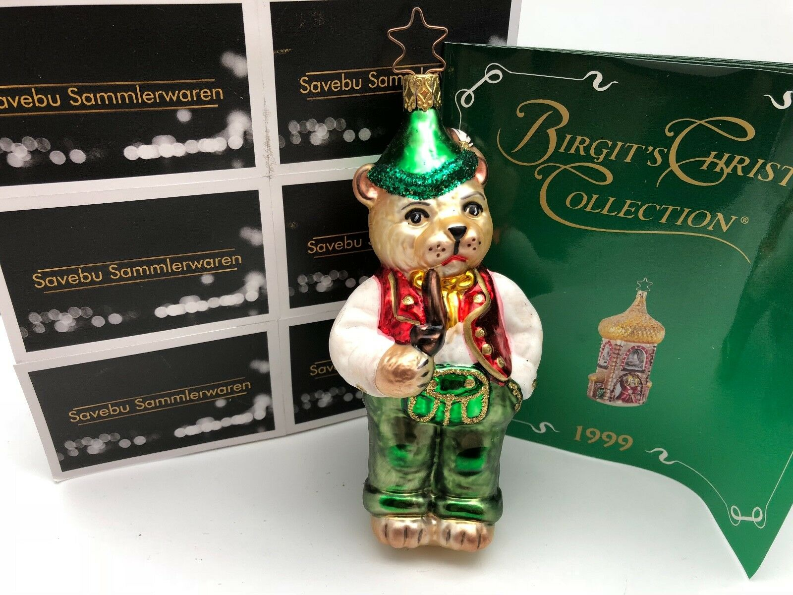 Inge Glas  Birgit´s Birgit´s Birgit´s Christmas Collection Papa Bär 14,5 cm  Limitiert | Outlet Store  7e430e
