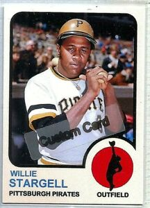 WILLIE-STARGELL-PITTSBURGH-PIRATES-1973-STYLE-CUSTOM-MADE-BASEBALL-CARD-BLANK
