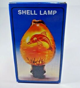 Shell-Night-Light-Shell-Lamp-Dolphin-themed-New-in-Box