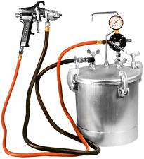 Astro 2-1/4 Gal Pressure Tank w/ 1.0mm Nozzle Black Spray Gun & 12' Hose PT2-4GH