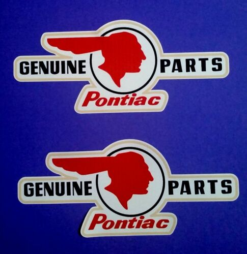 "2 X /""INDIAN PONTIAC/"" Vinyl Decal Sticker CHIEF HOG CAFE RACER CHOPPER BSA CAR V8"