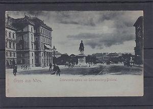 AK-Wien-Mondscheinkarte-Schwarzenbergplatz-mit-Denkmal-ungelaufen-ca-1900