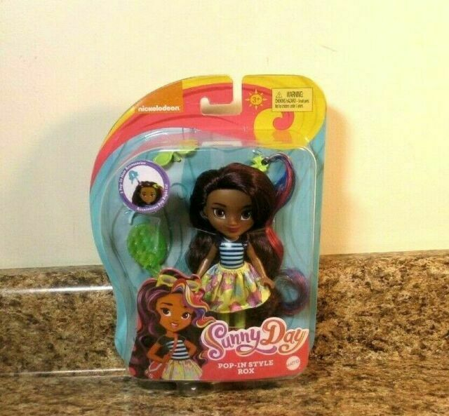 "NEW Sunny Day Pop-In Style ROX Doll By Mattel Nickelodeon 6/"" Poseable Figure"