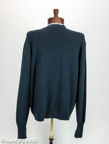 Varsity Letterman Sweater Men/'s Navy Acrylic Cardigan 50/'s Style Costume Sweater