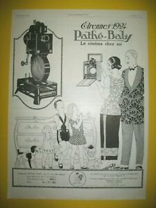 Publicite-de-Prensa-Pathe-Baby-Proyector-Cine-el-Casa-Regalos-Ano-Nuevo-1924