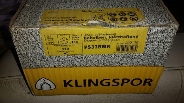 55 x Klingspor Schleifscheiben PS33Bwk kletthaftend gelocht | Ø 150mm | Korn 150