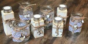 Gedeckter Tisch Dekoration Aggressiv 4 Windlichter & 4 Kerzenständer Hochzeit Tischdeko Vintage Spitze Td0100