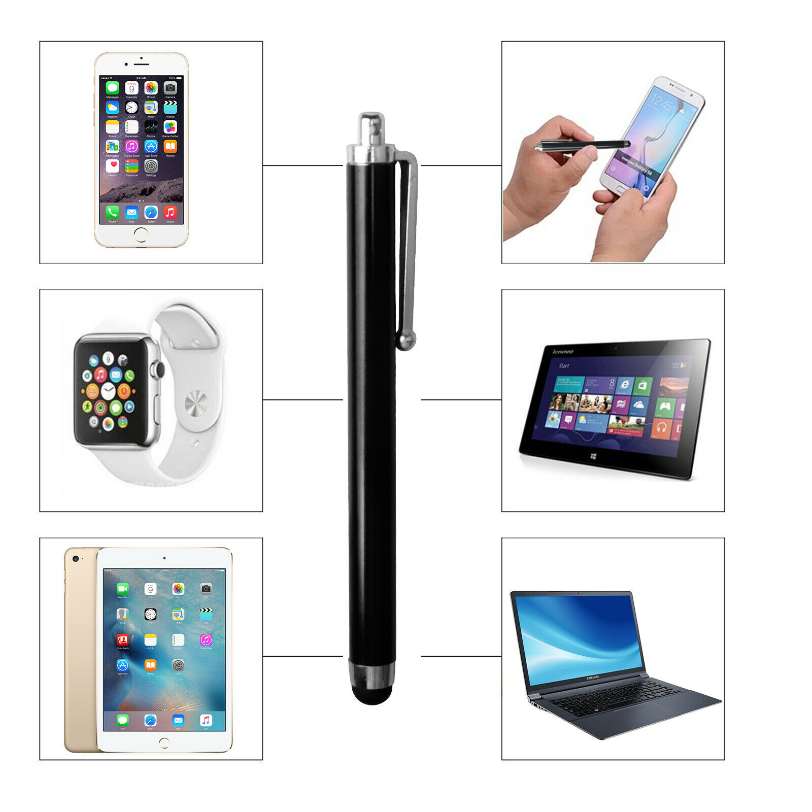 For Samsung Galaxy Note 2 N7100 S PEN TOUCH SCREEN STYLUS ERASER #6HH