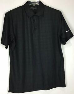 mens-nike-golf-polo-shirt-Medium-dri-fit-Short-Sleeve-Black