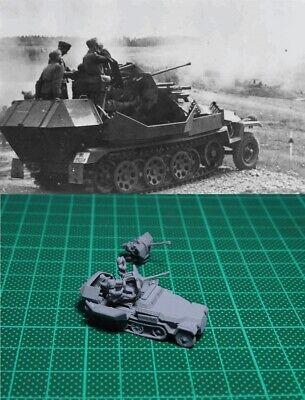 1//144 WWII German 7.5 cm PAK40 Gun on Sdkfz251//22 //w Gunner Resin Kit