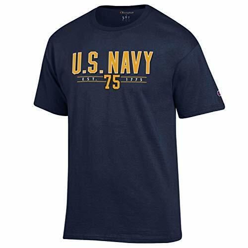 Champion US Navy Over est 1775 NCAA T Shirt Navy