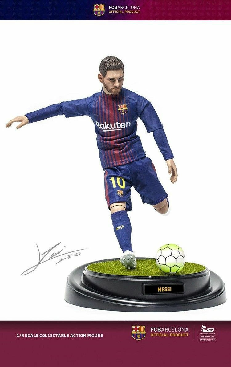 1 6 ZCWO FC Barcelona Soccer Player Lionel Messi Display Figure Model Colletion
