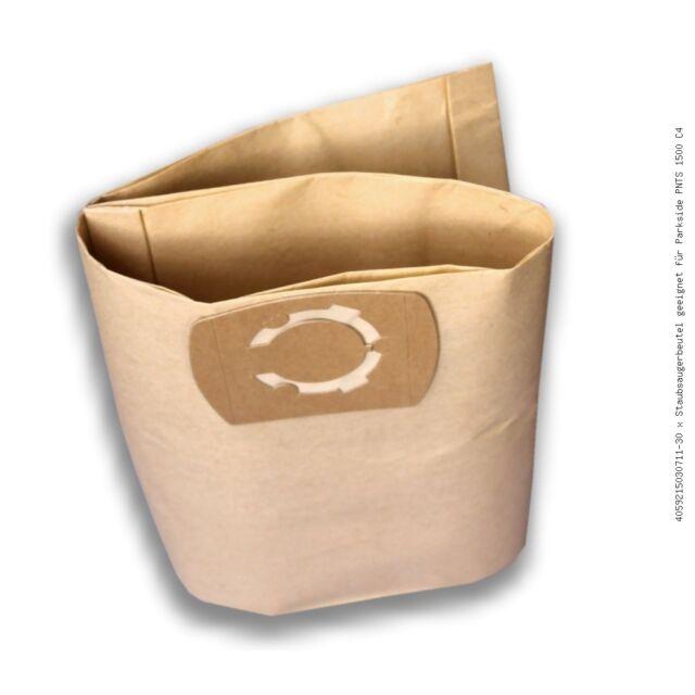 30 X Vacuum Cleaner Bag Suitable for Parkside PNTS 1500 C4 Filter Bag Bag