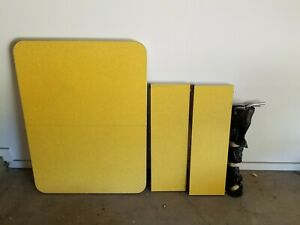 Vintage Yellow Formica Table With 2 Leaves Ebay