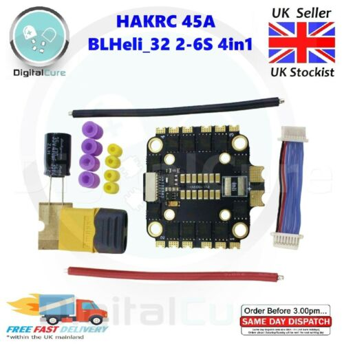 HAKRC 45 A BLHeli /_ 32 2-6 S 4in1 ESC 30 mm 20 mm-Racing F7 F4 F3 30 A 40 A 50 A