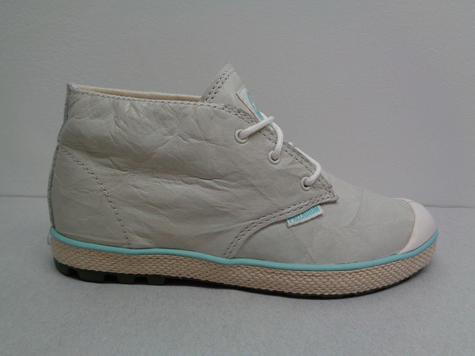 Palladium M Slim Chukka botas al Tobillo de Cuero blancoo Apagado Nuevos Mujer Zapatos