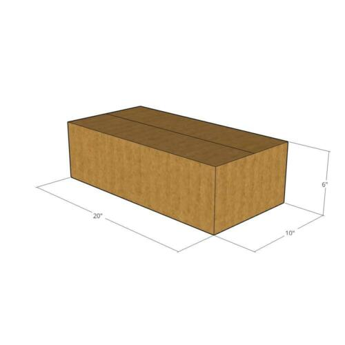 5 Corrugated Boxes 20x10x6  32 ECT New for Packing or Shipping Needs