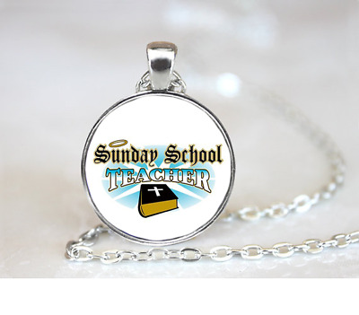 Teachers Planting Seeds PENDANT NECKLACE Chain Glass Tibet Silver Jewellery