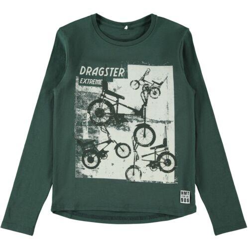NAME IT Kinder Jungen Langarmshirt Longsleeve Bio-Baumwolle T-Shirt langärmelig