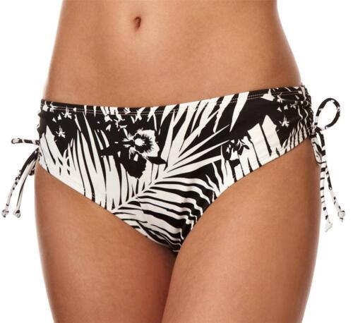 Donna Panache Nero Avorio Bikini Bottom CLAUDETTE drawside Costumi da bagno Beachwear