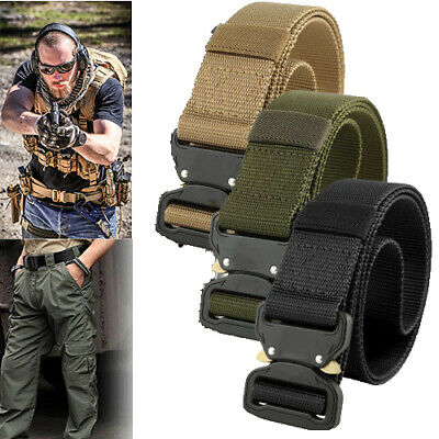 Adjustable Military Tactical Belt Men Army Combat Waistband Rescue Rigger Belts