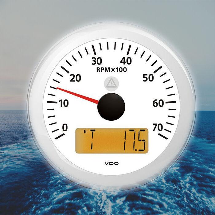 VDO Viewline Drehzahlmesser LCD 7000 RPM 85mm 3  weiß A2C59512400